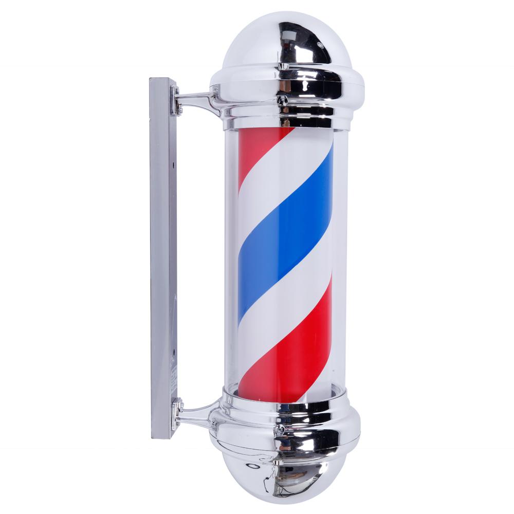 "28"" 32"" 36"" 41"" Barber Shop Pole Rotating Light Stripes"